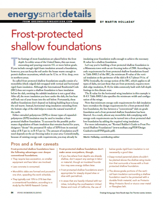 Frost-Protected Shallow Foundations - GreenBuildingAdvisor