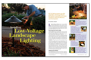 Installing low voltage landscape lighting greenbuildingadvisor mozeypictures Image collections