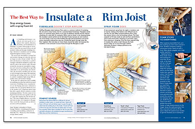The Best Way To Insulate A Rim Joist Greenbuildingadvisor
